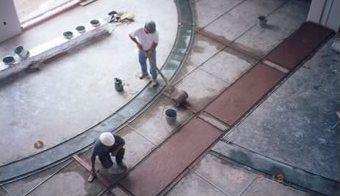 Terrazzo Install Cement