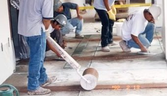 Terrazzo Install Cementrolling
