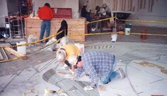 Terrazzo Install Divider Strip